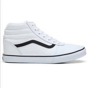 White Leather Vans